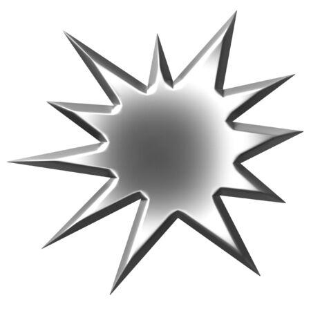 3d silver starburst  photo