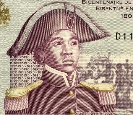Sanite Belair (1781-1805) sur 10 Gourdes 2004 Billet d'Haïti. Combattant de la liberté et révolutionnaire, sergent dans l'armée de Toussaint Louverture. Banque d'images - 7473949