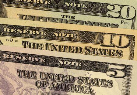 unc: USA banknotes close up Stock Photo