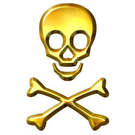 3d golden crossbones Stock Photo - 7548352