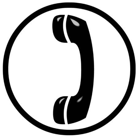 3D telefoon teken  Stockfoto