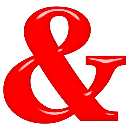 3d red ampersand  photo