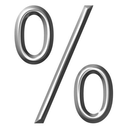 3d silver percent symbol photo