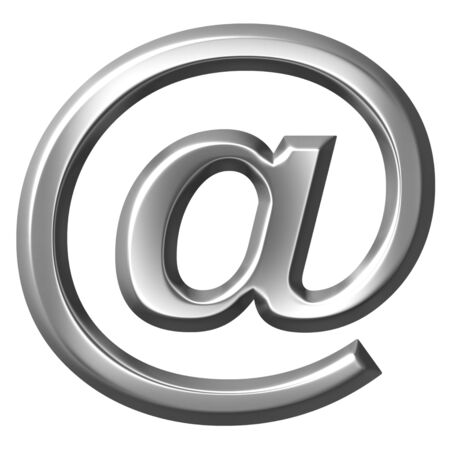electronic mail: 3d silver email symbol