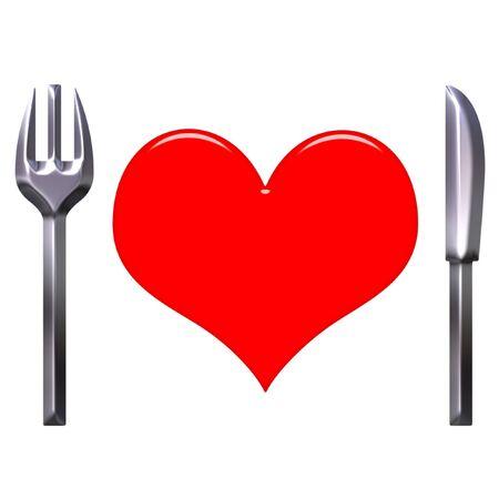 Love food concept  photo