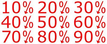 3d discount percentages photo
