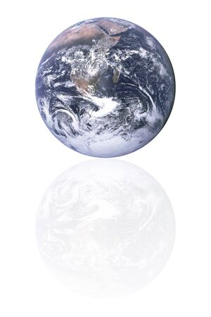 Planet earth with reflection  photo