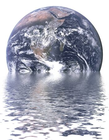 Earth is sinking due to global warming Stock Photo - 7870709