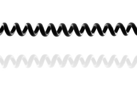 Telefon Spiralkabel mit Reflektion