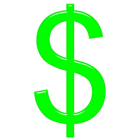 3d dollar symbol Stock Photo - 8132437