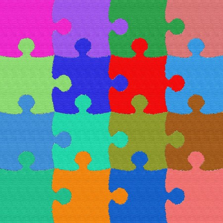 Colorful and texturized puzzle background Stock Photo - 8132450
