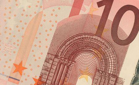uncirculated: Uncirculated ten euro banknote close up