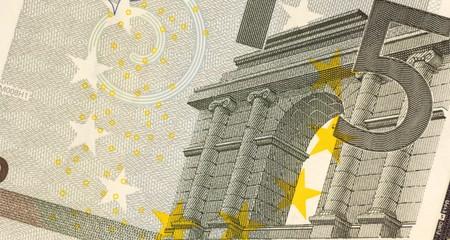 billets euros: Billet de 5 euros non distribu�s de pr�s