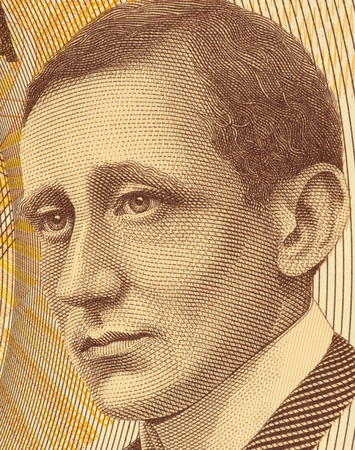 banknote uncirculated: Guglielmo Marconi (1874-1937) on 2000 Lire 1990 Banknote from Italy. Italian inventor best known for his development of Marconis law and a radio telegraph system.