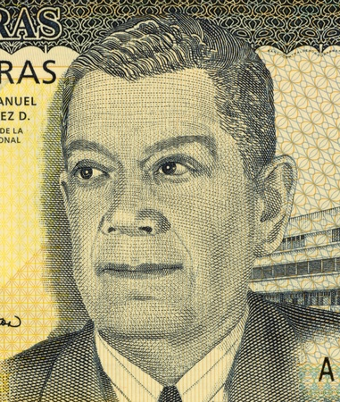 banknote uncirculated: Juan Manuel Galvez Duron (1887-1972) on 50 Lempiras 2006 Banknote from Honduras. President of Honduras during 1949-1954.