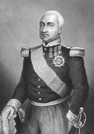 duke: Aimable Pelissier, Duke of Malakhoff (1794-1864) on engraving from the 1800s. French marshal. Engraved by D.J. Pound. Editorial