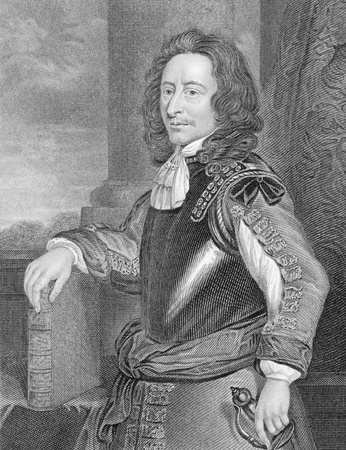 colonel: Algernon Sidney (1623-1683) on engraving from the 1800s. English politician, republican political theorist, colonel and opponent of King Charles II of England, who became involved in a plot against him and was executed for treason. Engraved by J.Cochran a Editorial