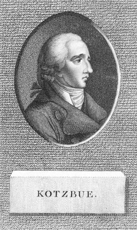 dramatist: August von Kotzebue (1761-1819) on engraving from the 1800s. German dramatist and politician. Editorial