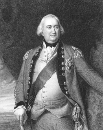 Charles Cornwallis, 1st Marquess Cornwallis (1738-1805) on engraving from the 1800s. British soldier and statesman. Best  remembered for his defeat at Yorktown in the American Revolution. Engraved by S.Freeman from a painting by J.S. Copley and published  Stock Photo - 8510322