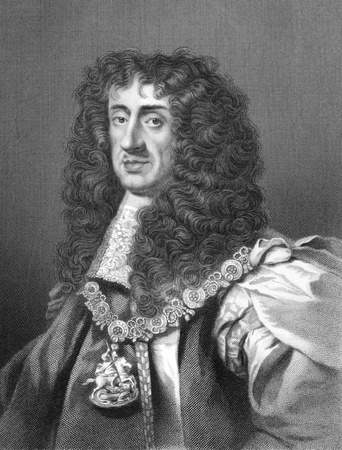 Charles II (1630-1685) on engraving from the 1800s. King of England, Scotland and Ireland during 1660-1685. Engraved by W.Holl and published in London by W.Mackenzie. Stock Photo - 8520746