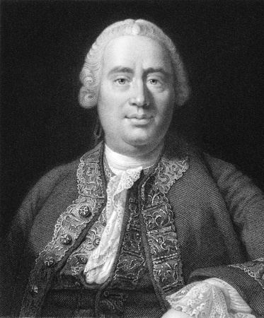 economist: David Hume (1711-1776) on engraving from the 1800s. Scottish philosopher, economist, historian. Key figure of Western philosophy and Scottish Enlightenment. Engraved by W.Holl from a print by A.Smith after a picture by A.Ramsay and published in London by  Editorial
