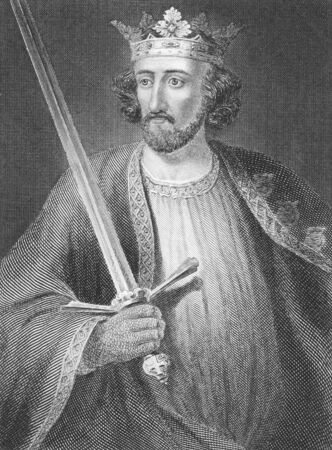 edward: Edward I (1239-1307) on engraving from the 1800s. King of England during 1272-1307. Published in London by J.S.Virtue.