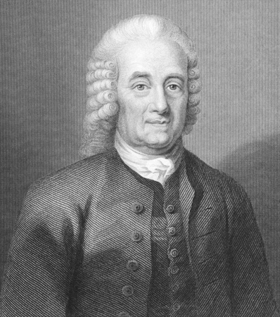 theologian: Emanuel Swedenborg (1688-1772) on engraving from the 1700s. Swedish scientist, inventor, philosopher, Christian mystic and theologian. Engraved by W.Holl and published in London by A.Fullatron & Co. Editorial