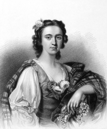 macdonald: Flora MacDonald (1722-1790) on engraving from the 1800s. Jacobite heroine. Engraved by E.Finden and published in London by J.Murray in 1836.