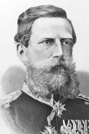 Frederick William III, German Emperor (1831-1888) on engraving from the 1800s. Published in London by James Hagger. Stock Photo - 8520649
