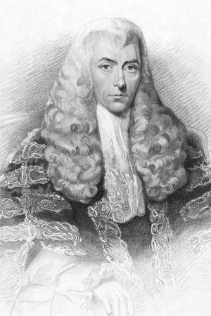 statesman: Henry Brougham (1778-1868) su incisione dal 1800. Statista britannico che divenne Lord Cancelliere. Incisione di H.B.Hall da un dipinto di Latilla e pubblicato a Londra da G.J.Thomson.
