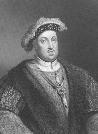 viii: Henry VIII (1491-1547) on engraving from the 1800s. King of England during 1509-1547. Engraved by W.Holl and published in London by W.Mackenzie.