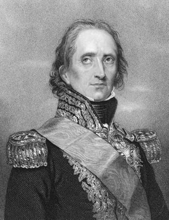 Jean-de-Dieu Soult (1769-1851) on engraving from the 1800s. French general and statesman, named Marshal of the Empire in 1804. Engraved by W.H.Mote after a drawing by Rouillard and published in London Fisher, Son & Co. Stock Photo - 8520634