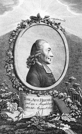 theologian: Johann August Ernesti (1707-1781) on engraving from the 1700s. German Rationalist theologian and philologist.