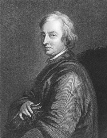 critic: John Dryden (1631-1700) on engraving from the 1800s. Influential English poet, literary critic, translator and playwright who dominated the literary scene of his day that it came to be known as the Age of Dryden. Engraved by C.E.Wagstaff from a painting b