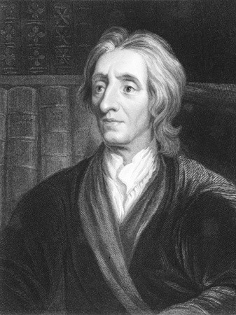 thinkers: John Locke (1632-1704) on engraving from the 1800s. English philosopher and physician, one of the most influential of Enlightenment thinkers. He is known as the Father of Liberalism. Engraved by J.Pofselwhite from a picture by G.Kneller and published in L Editorial