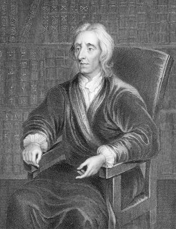 thinkers: John Locke (1632-1704) on engraving from the 1800s. English philosopher and physician, one of the most influential of Enlightenment thinkers. He is known as the Father of Liberalism. Engraved by H.Robinson and published by J.Tallis.