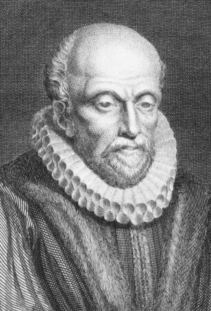 stow: John Stow (1525-1605) on engraving from the 1800s. English historian and antiquarian. Engraved by A.W.Warren and published in 1808 by Stratford. Editorial