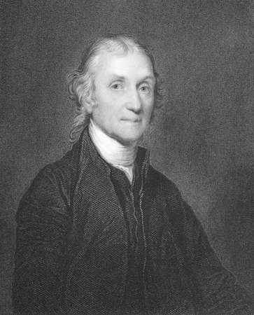 Joseph Priestley (1733-1804) on engraving from the 1800s. English theologian, dissenting clergyman, natural philosopher, educator and political theorist. Engraved by W.Holl from a picture by G.Stewart and published in London by W.S.Orr & Co. Editorial