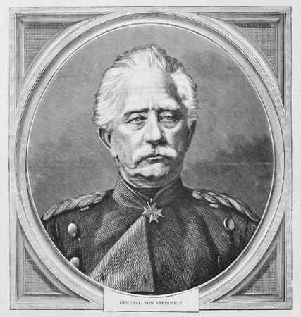 Karl Friedrich von Steinmetz (1796-1877), German  Generalfeldmarschall. Published by the Graphic in 1870.