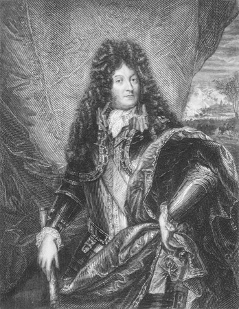 louis: Louis XIV of France (1638 -1715) on engraving from 1886. King of France from 1643 to 1715. Engraved by W.Greatbatch and published in London by Richard Bentley & Son in 1886. Editorial