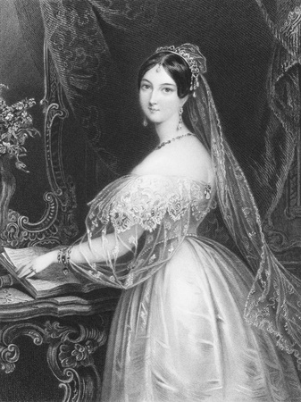 Marguerite Gardiner, Countess of Blessington (1789-1849) on engraving from the 1800s. Irish  novelist.Engraved by J.Thomson after a drawing by E.T. Parris and published in London by Longman & Co. Stock Photo - 8520530
