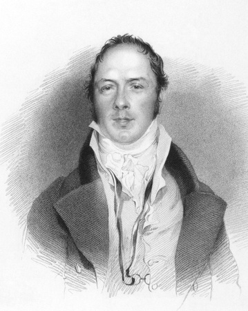 novelist: Matthew Lewis (1775-1818) on engraving from the 1800s. English novelist and dramatist. Engraved by J.Hottis from a drawing by G.H.Harlowe and published in London by J.Murray & Sold. Editorial