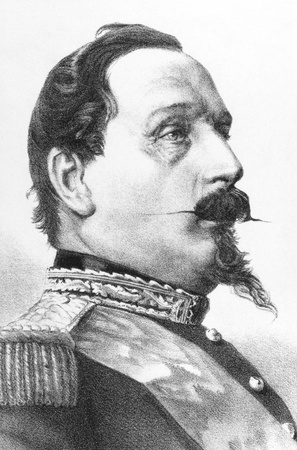 Napoleon III aka Louis Napoleon Bonaparte (1808-1873) on engraving from the 1800s. President of the French Second Republic and ruler of the Second French Empire. Nephew of Napoleon I. Published in London by James Hagger, 67 Paster Noster Row. Stock Photo - 8520528