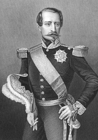 Napoleon III aka Louis Napoleon Bonaparte (1808-1873) on engraving from the 1800s. President of the French Second Republic and ruler of the Second French Empire. Nephew of Napoleon I. Drawn and engraved by D.J.Pound. Stock Photo - 8520674