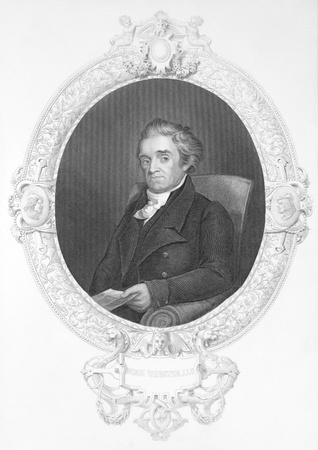 lexicographer: Noah Webster (1758-1843) on engraving from the 1800s. American lexicographer, textbook pioneer, spelling reformer, political writer, editor and prolific author. Called as the Father of American Scholarship and Education. Engraved by J.Rogers and publish Editorial