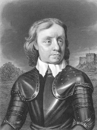 involvement: Oliver Cromwell (1599-1658) on engraving from the 1800s. English military and political leader best known for his involvement in making England into a republican Commonwealth. Published by W.Mackenzie.