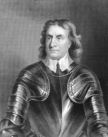 Oliver Cromwell (1599-1658) on engraving from the 1800s. English military and political leader best known for his involvement in making England into a republican Commonwealth. Engraved by E.Scriven and published in London by J.S.Virtue. Banque d'images - 8520663