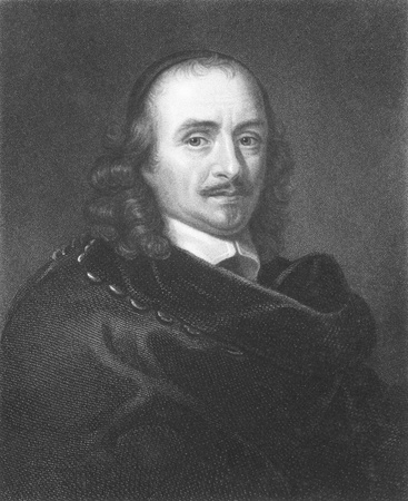 17th century: Pierre Corneille (1606-1684) on engraving from the 1800s. Founder of French tragedy and one of the three great 17th century French dramatists, along with Moliere and Racine. Engraved by T.Woolnoth from a picture by  C.Lebrun and published in London by Cha