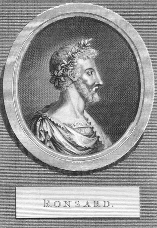 Pierre de Ronsard (1524-1585) on engraving from the 1700s. French poet also known as