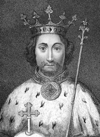 richard: Richard II (1367-1400) on engraving from the 1800s. King of England during 1377-1399. Published in 1806 by E.Jeffery,Pall Mall.